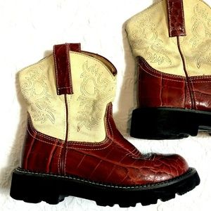 Ariat Fat Baby Red Croc Cowboy cowgirl boots